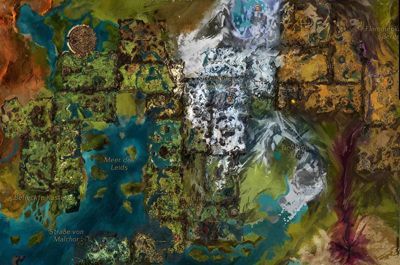 Gw2 Karte.Guild Wars 2 Kochbuch übersichtskarte